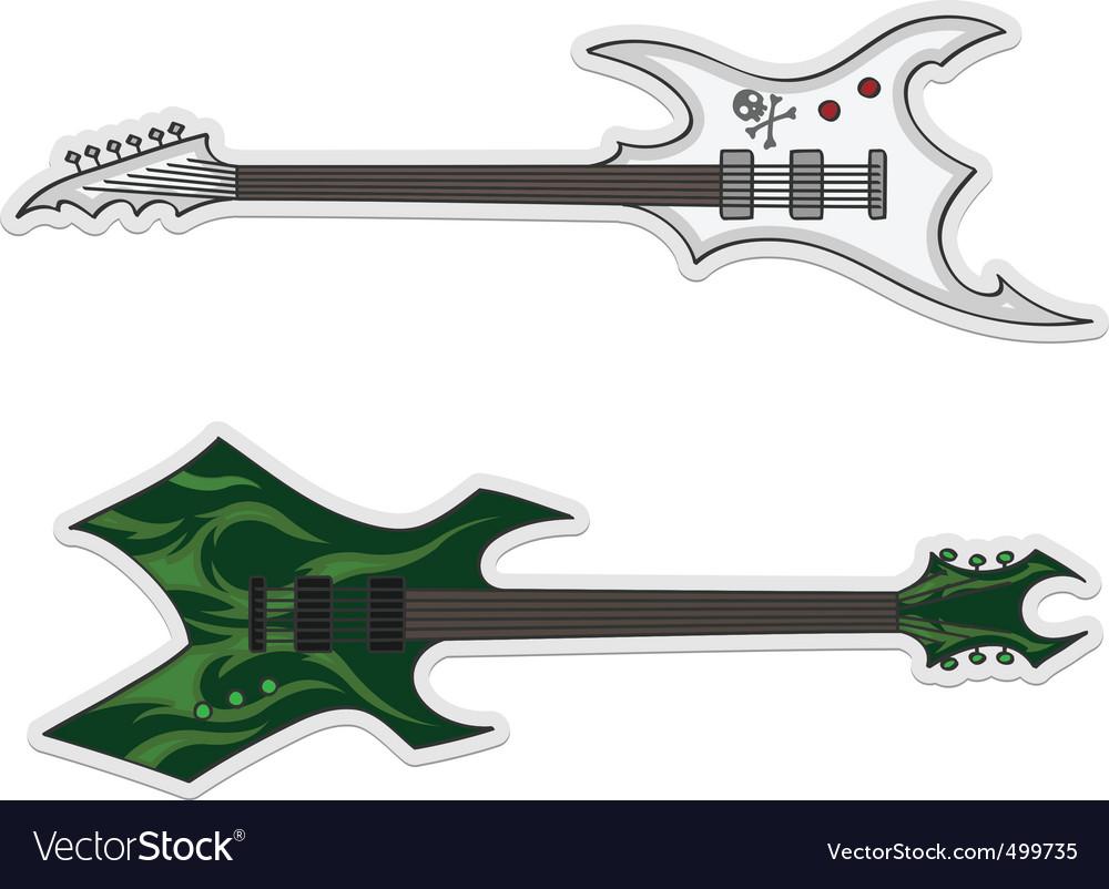 Two beautiful guitars vector | Price: 1 Credit (USD $1)