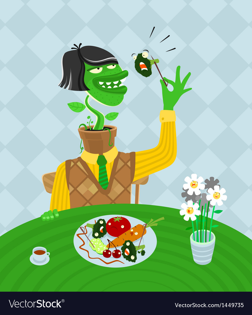 Vegetarian parody vector | Price: 1 Credit (USD $1)