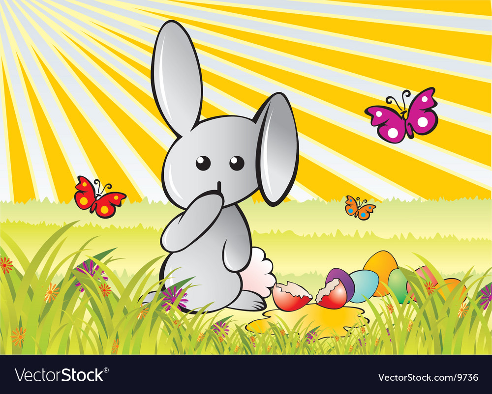 Careless bunny vector | Price: 3 Credit (USD $3)