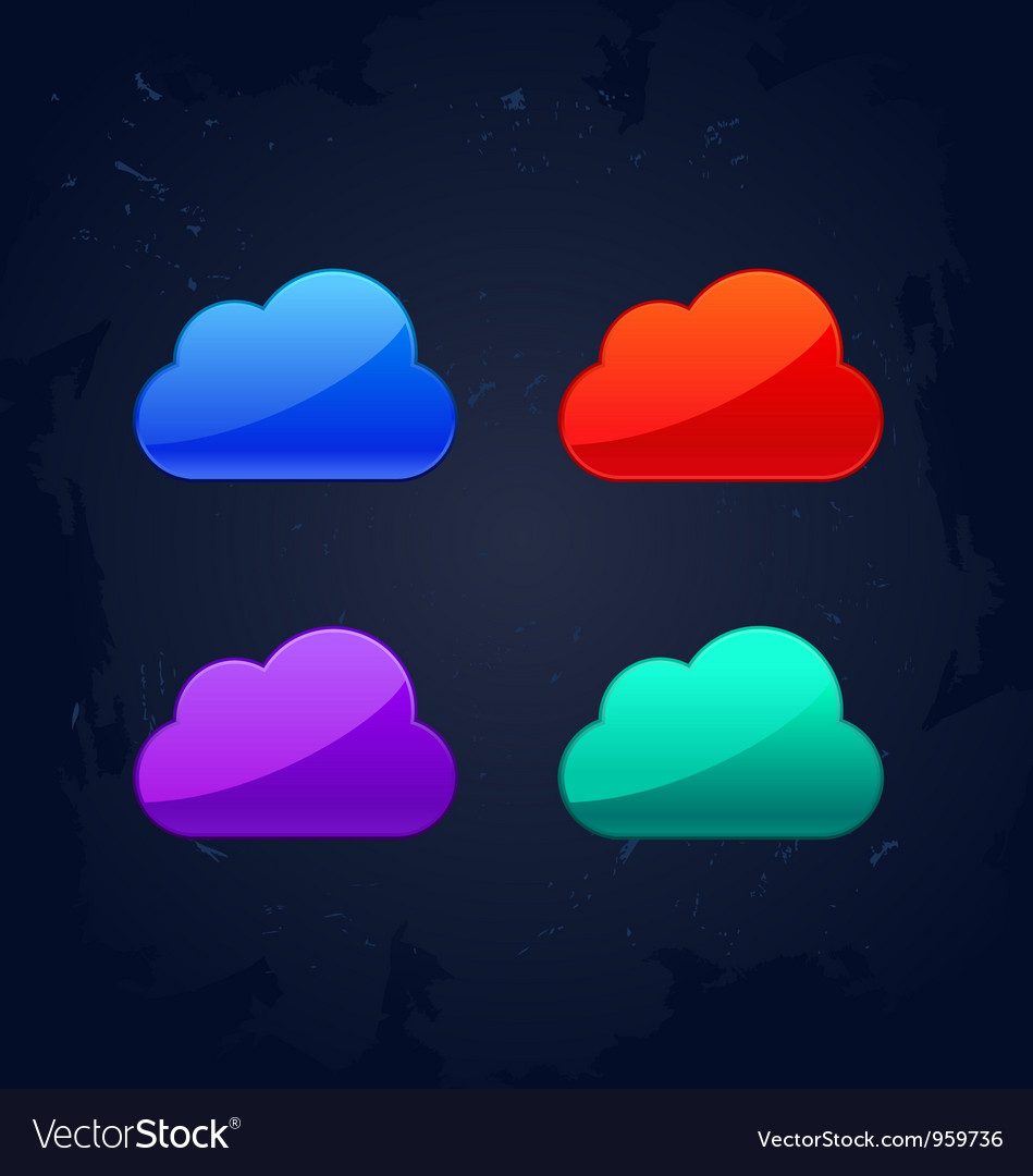 Colourful cloud computing concept vector | Price: 1 Credit (USD $1)