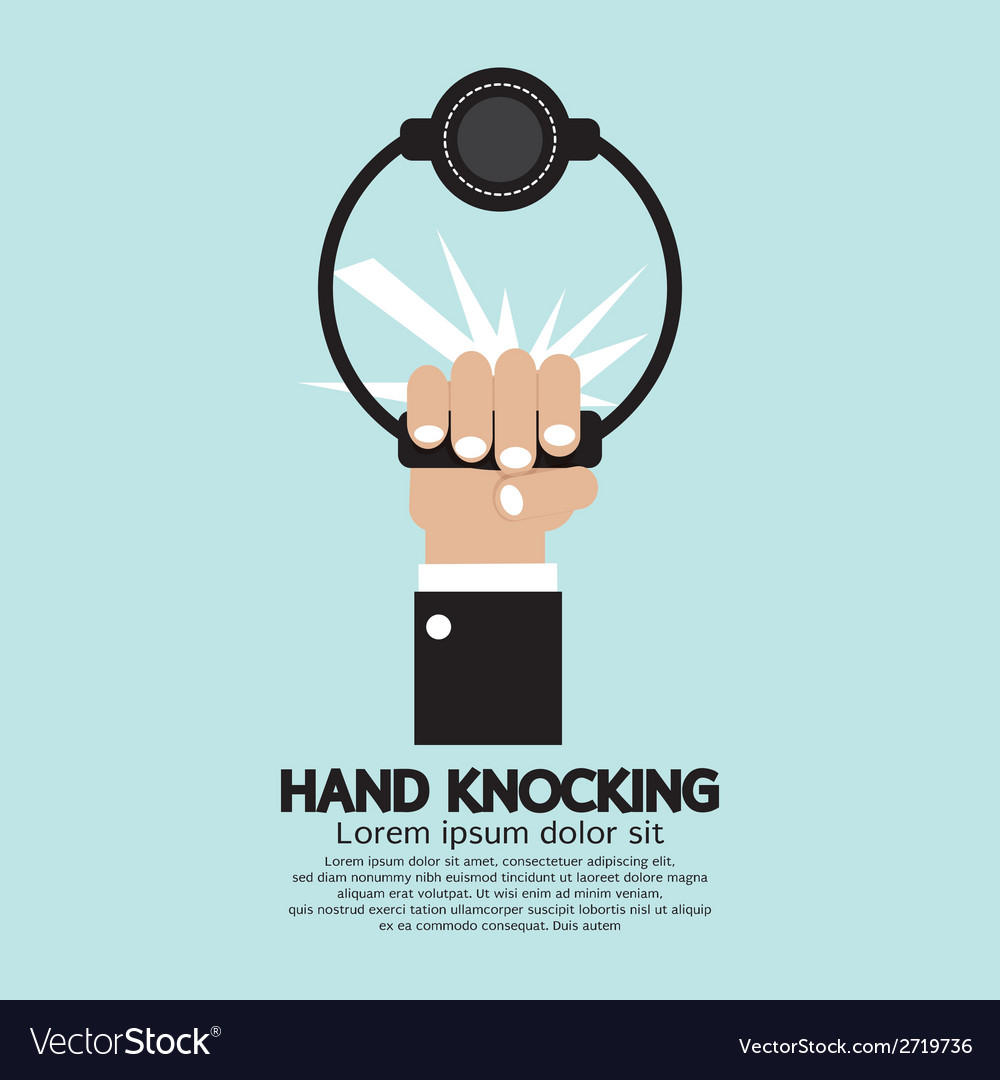 Hand knocking vector | Price: 1 Credit (USD $1)