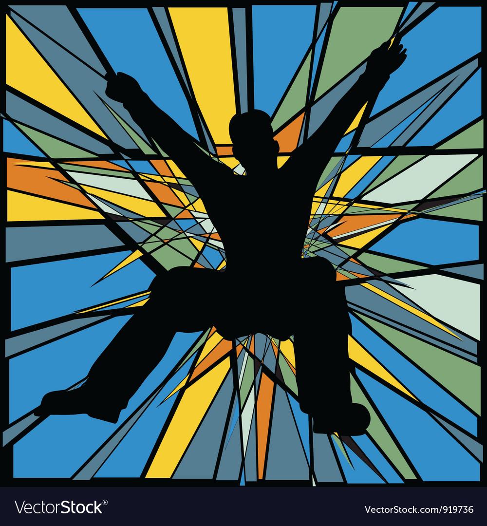 Jumping man vector | Price: 1 Credit (USD $1)