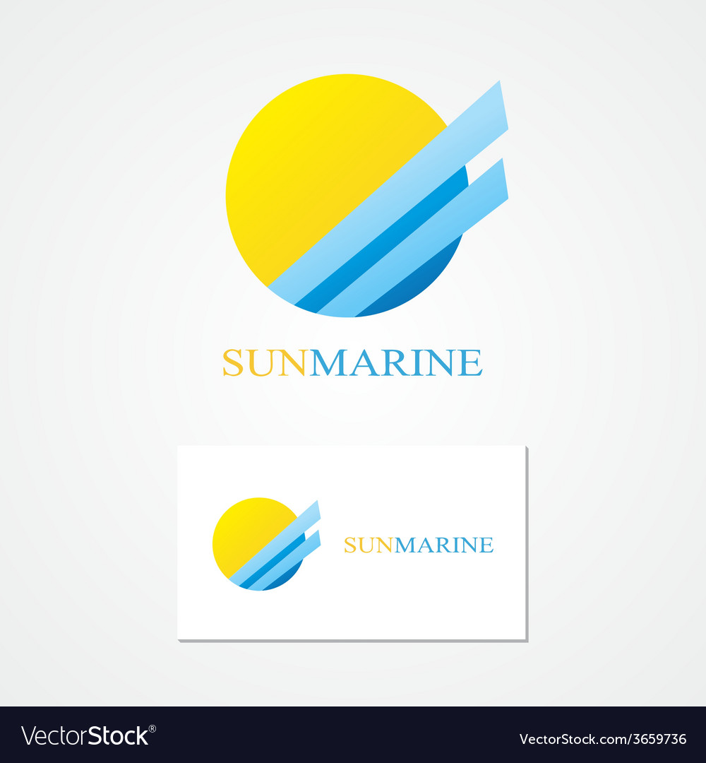 Logo combination of a sun and sea vector | Price: 1 Credit (USD $1)