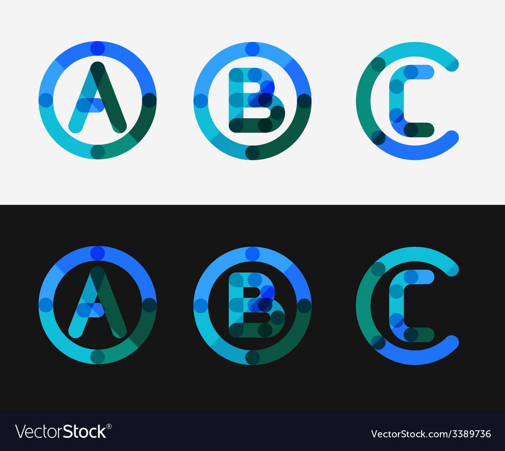 Minimal line design logo set vector | Price: 1 Credit (USD $1)