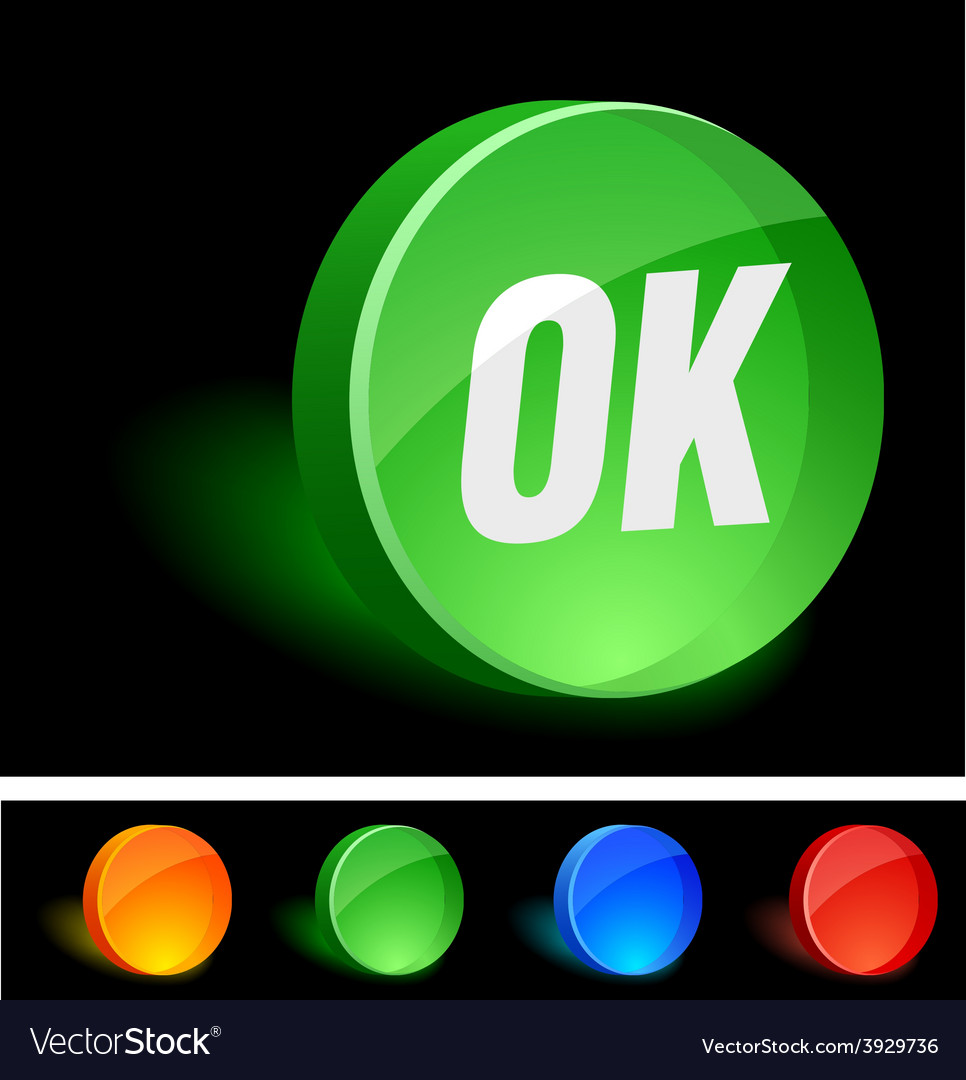 Ok icon vector | Price: 1 Credit (USD $1)
