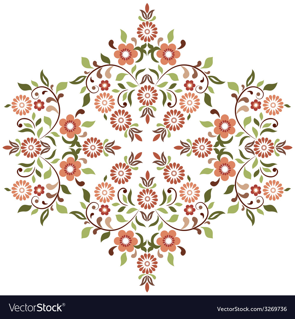 Ottoman motifs design series ninety four vector | Price: 1 Credit (USD $1)