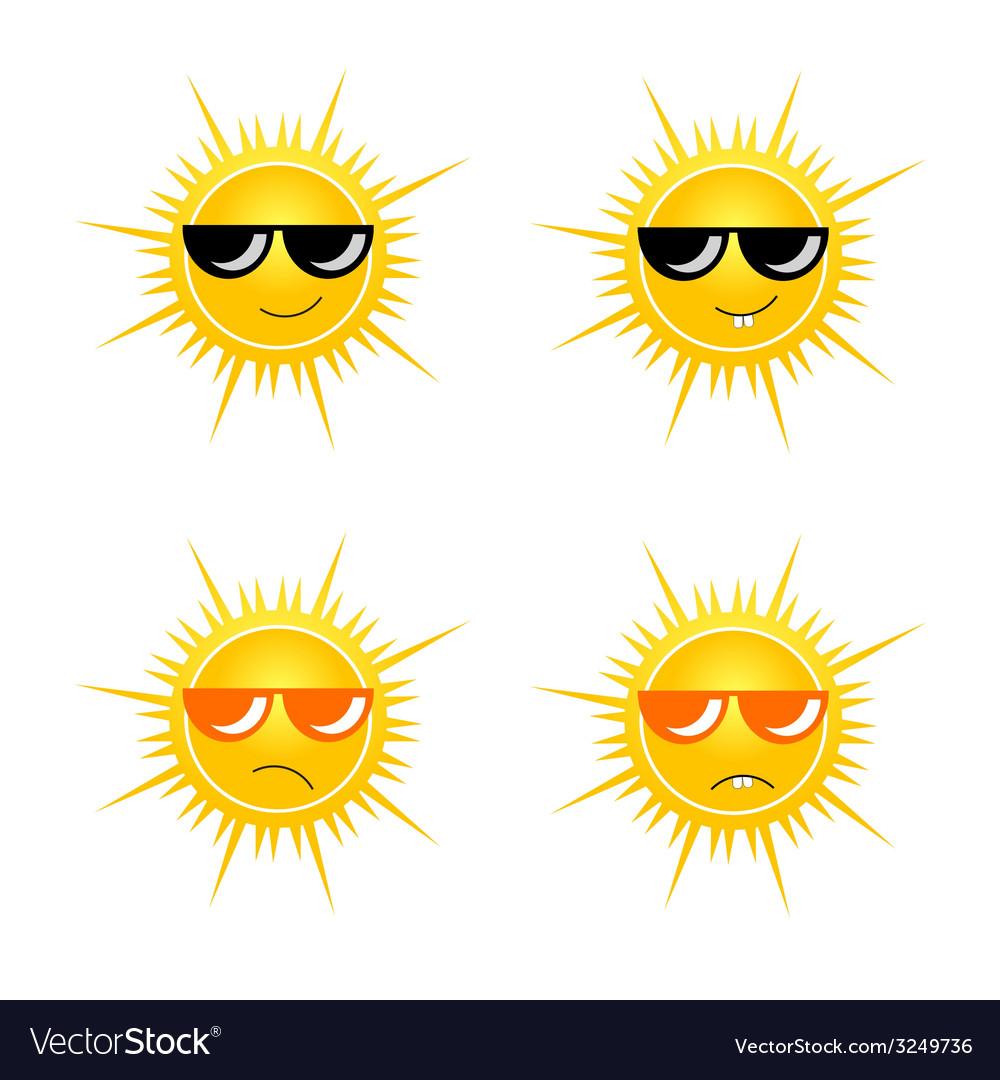Sun with sunglass vector | Price: 1 Credit (USD $1)