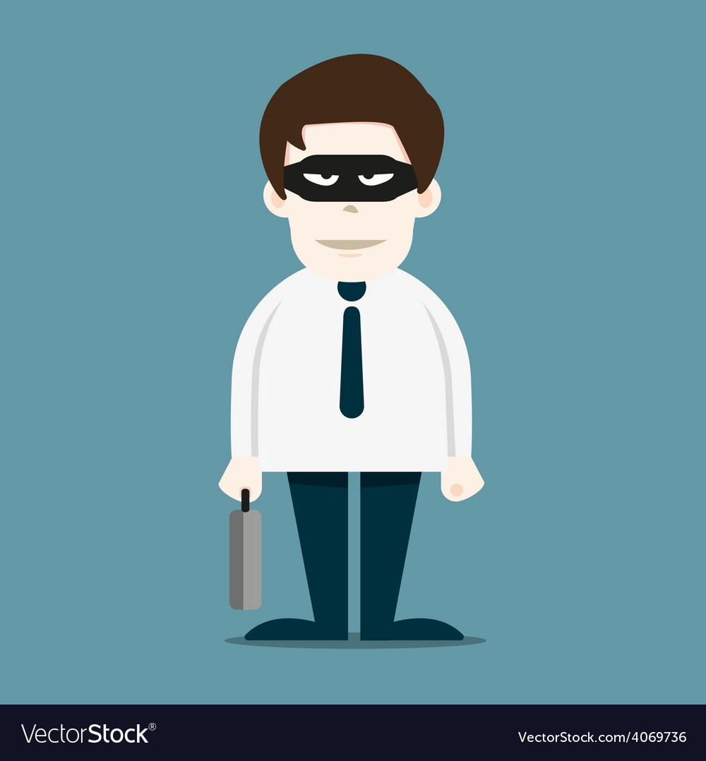 Thief in business man vector | Price: 1 Credit (USD $1)