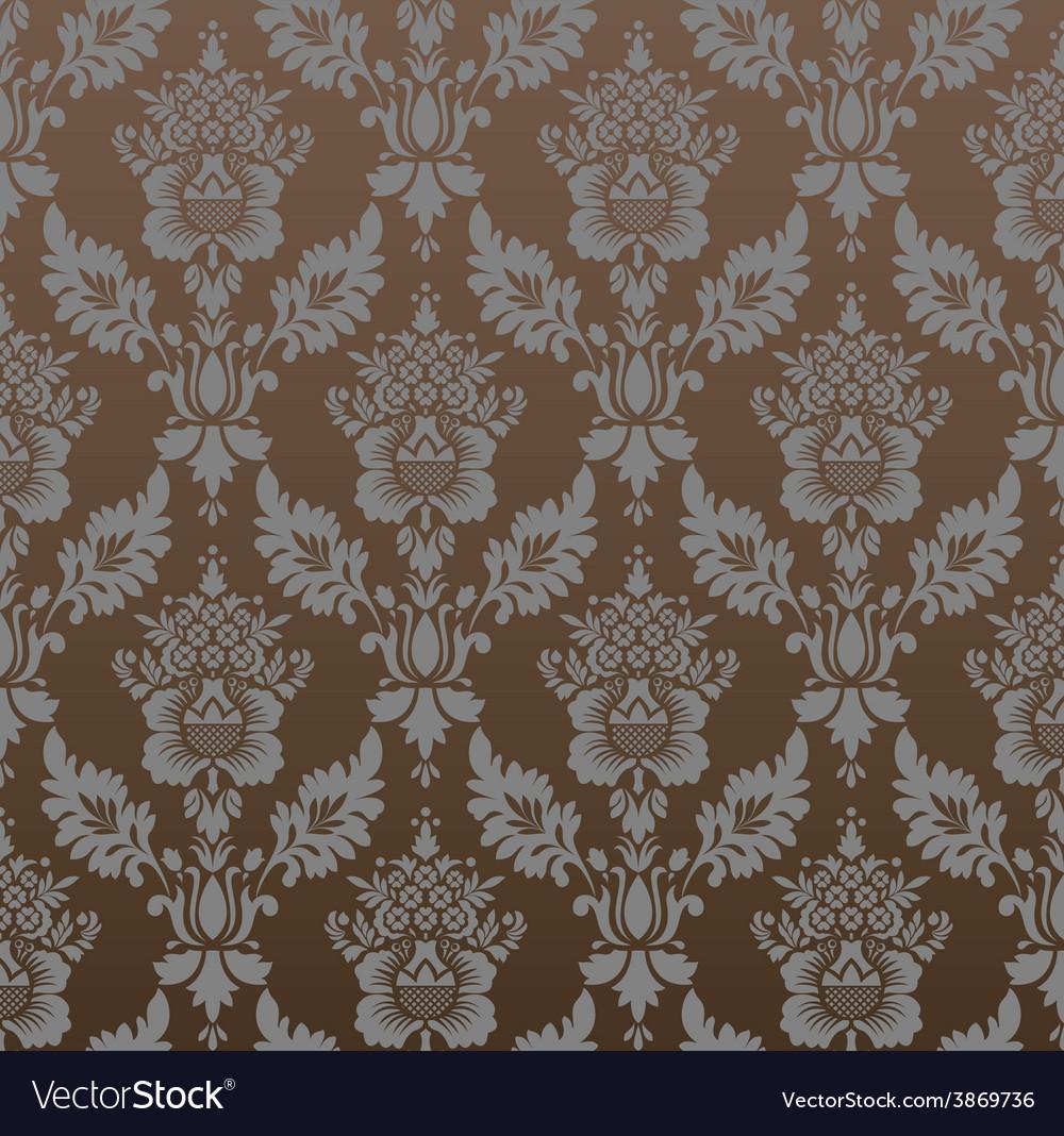 Vintage pattern seamless wallpaper vector | Price: 1 Credit (USD $1)