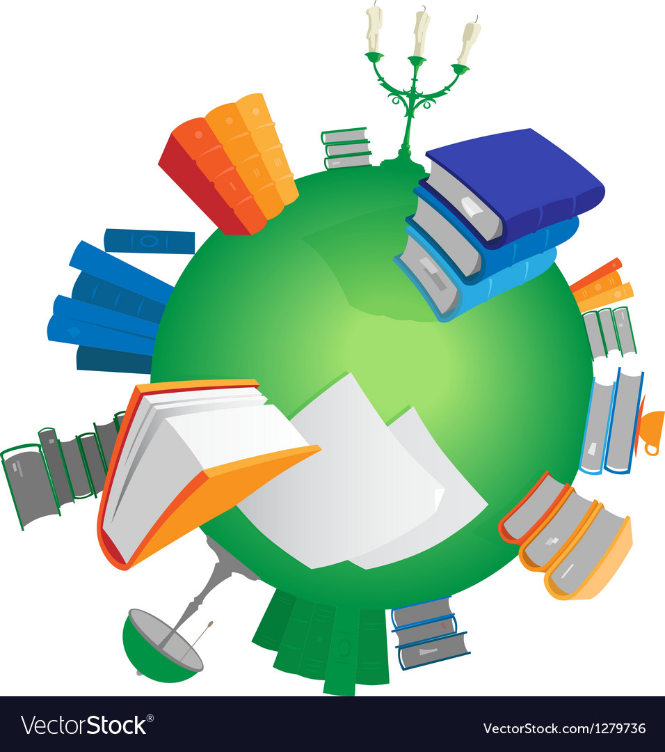 World of knowledge vector | Price: 1 Credit (USD $1)