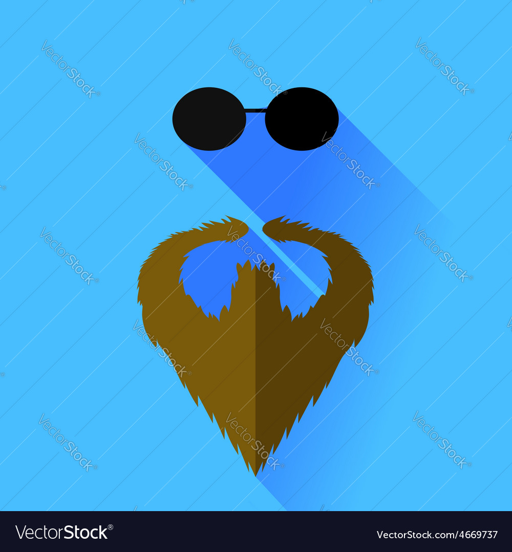Beard and glasses vector | Price: 1 Credit (USD $1)
