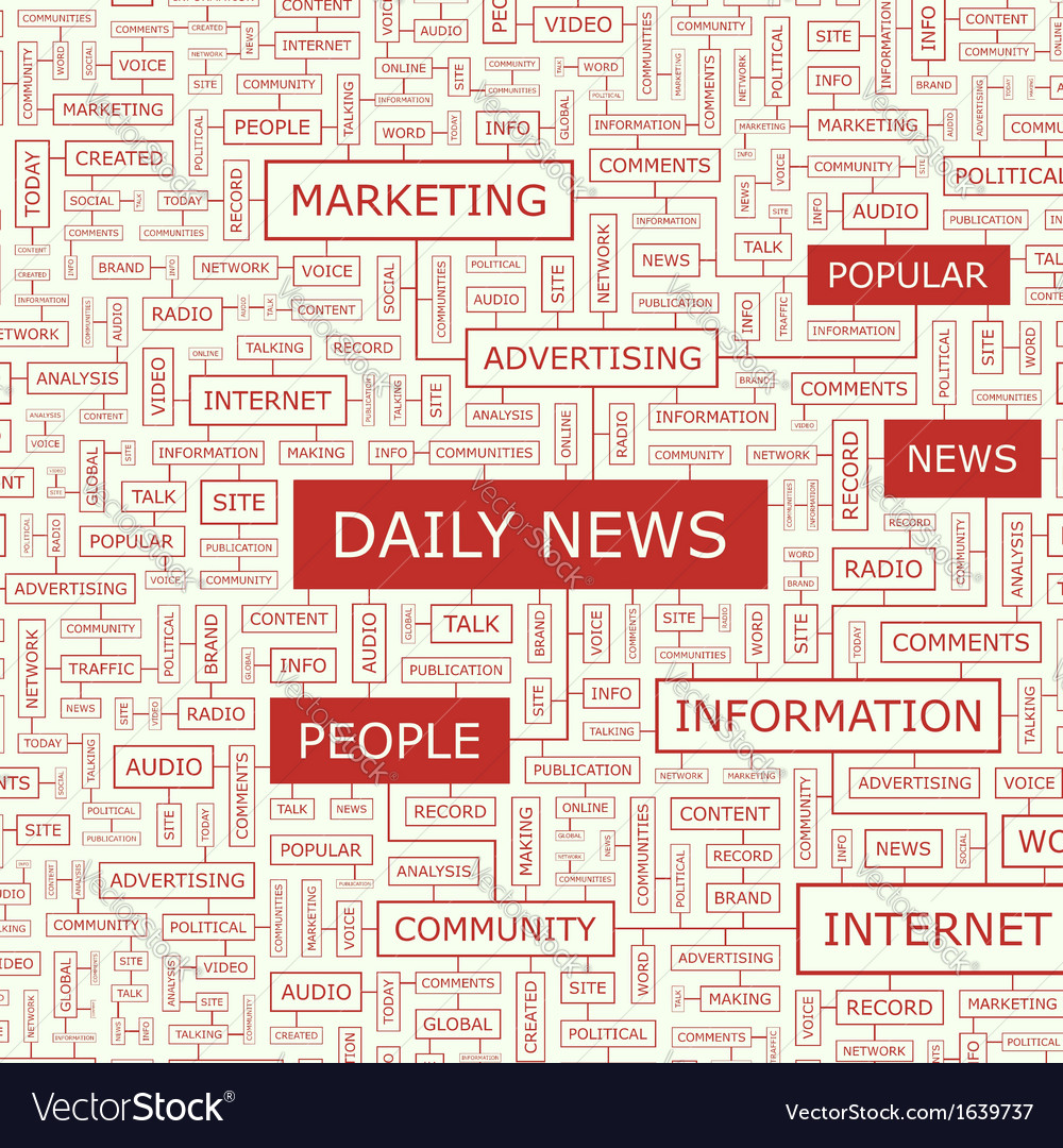 Daily news vector | Price: 1 Credit (USD $1)