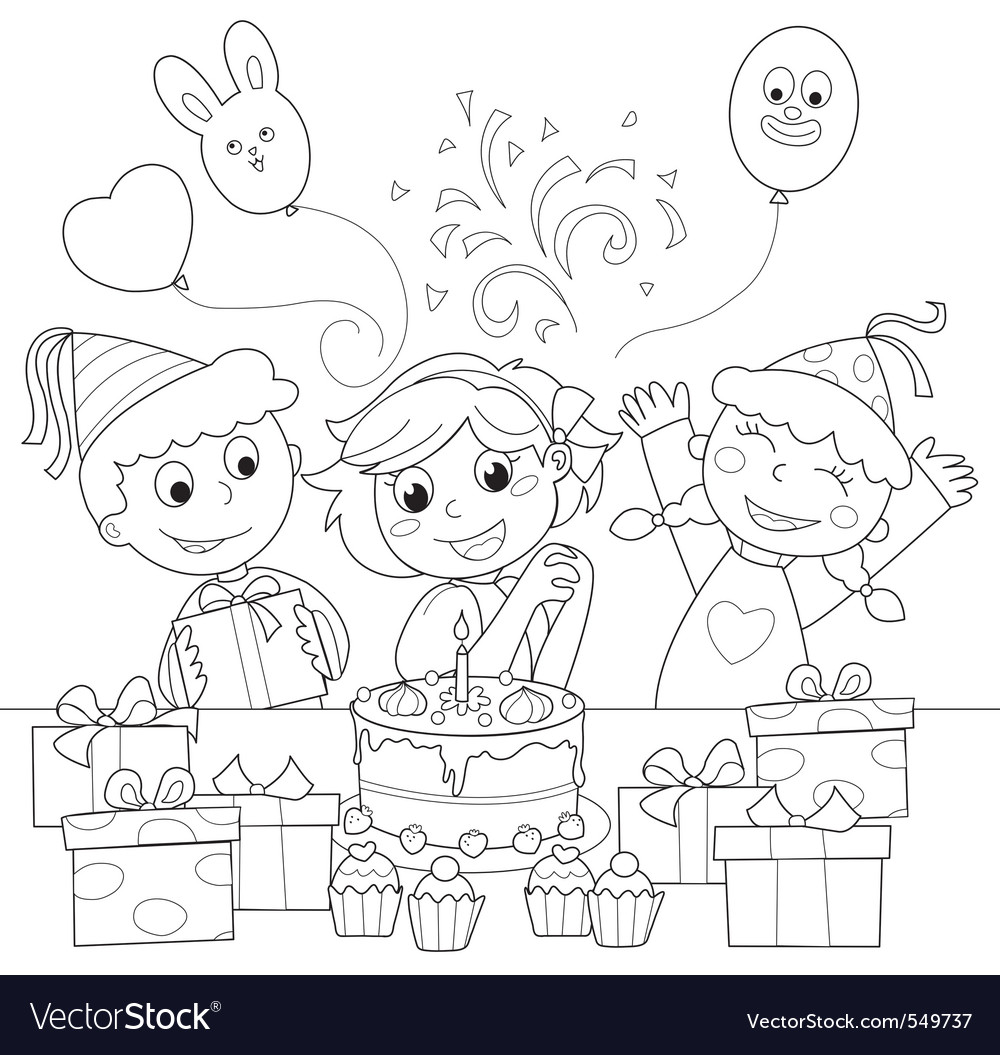 Happy birthday party vector | Price: 1 Credit (USD $1)