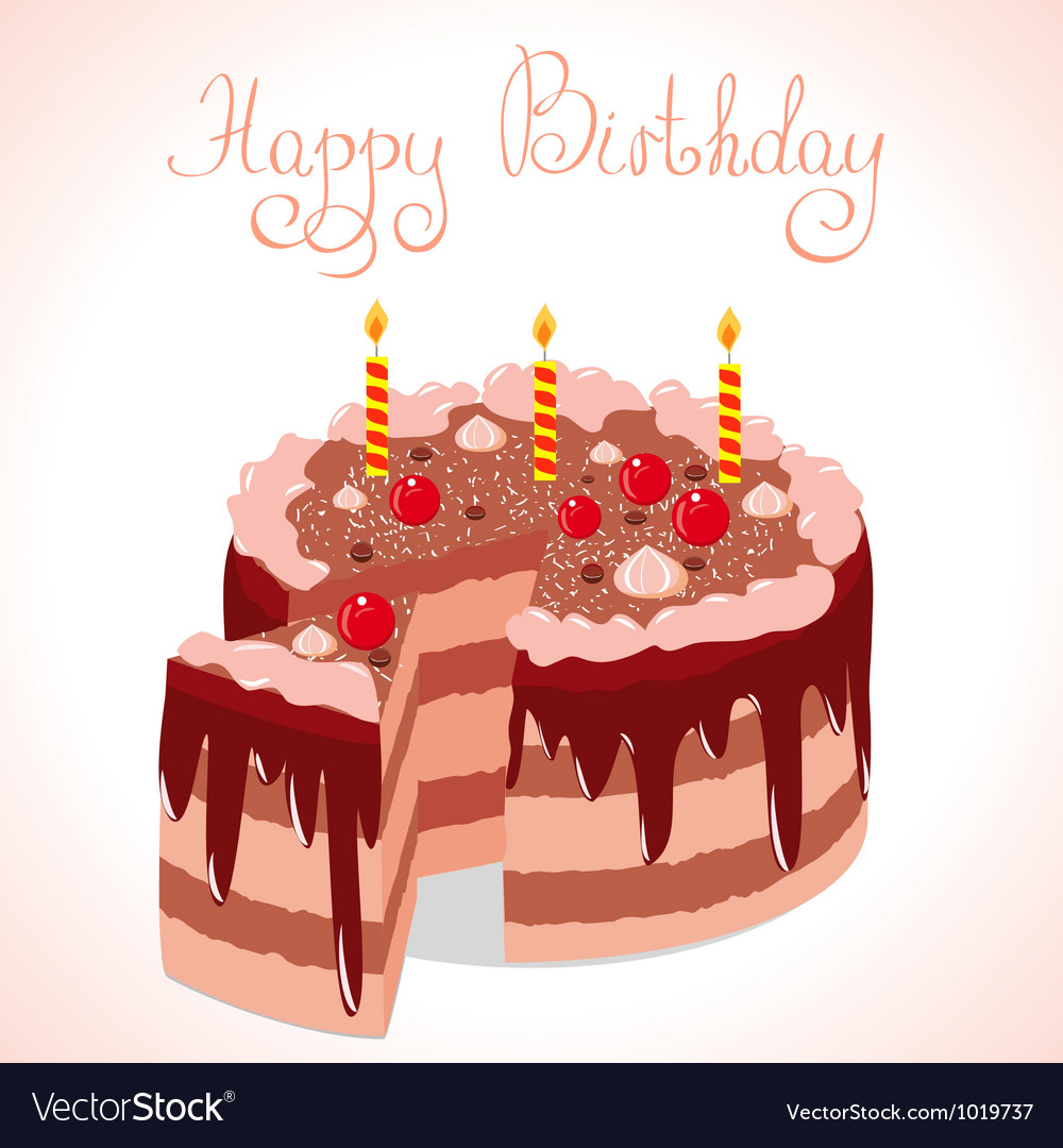 Happy cake vector | Price: 1 Credit (USD $1)