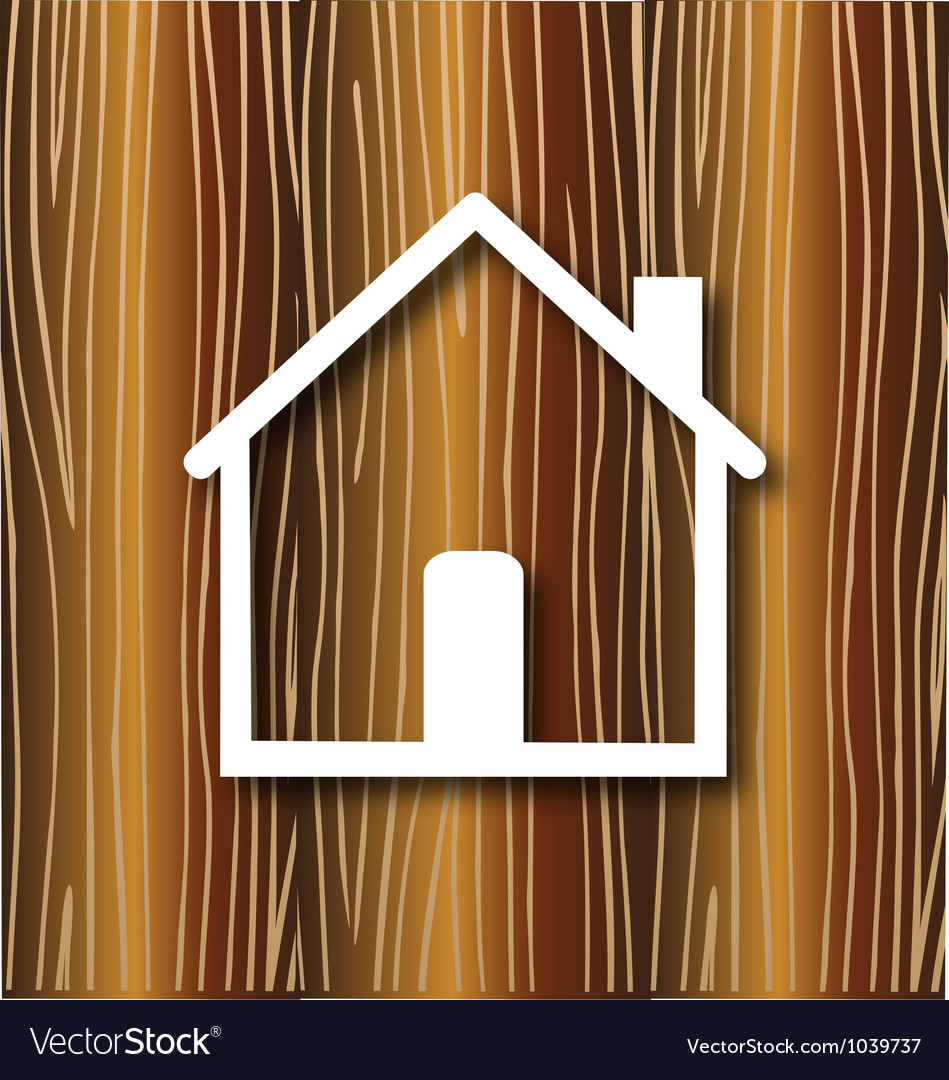 House concept wood background vector | Price: 1 Credit (USD $1)