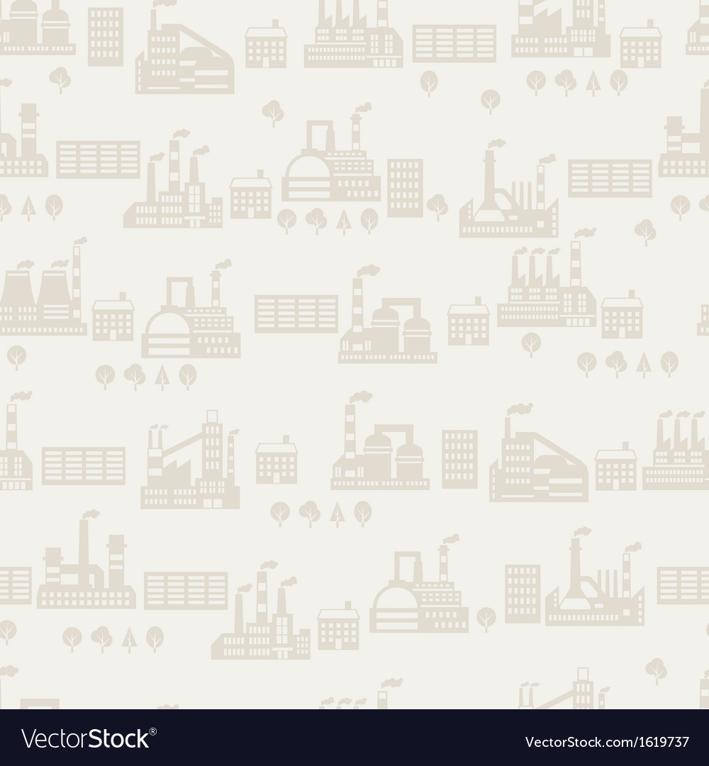 Industrial factory buildings seamless pattern vector | Price: 3 Credit (USD $3)