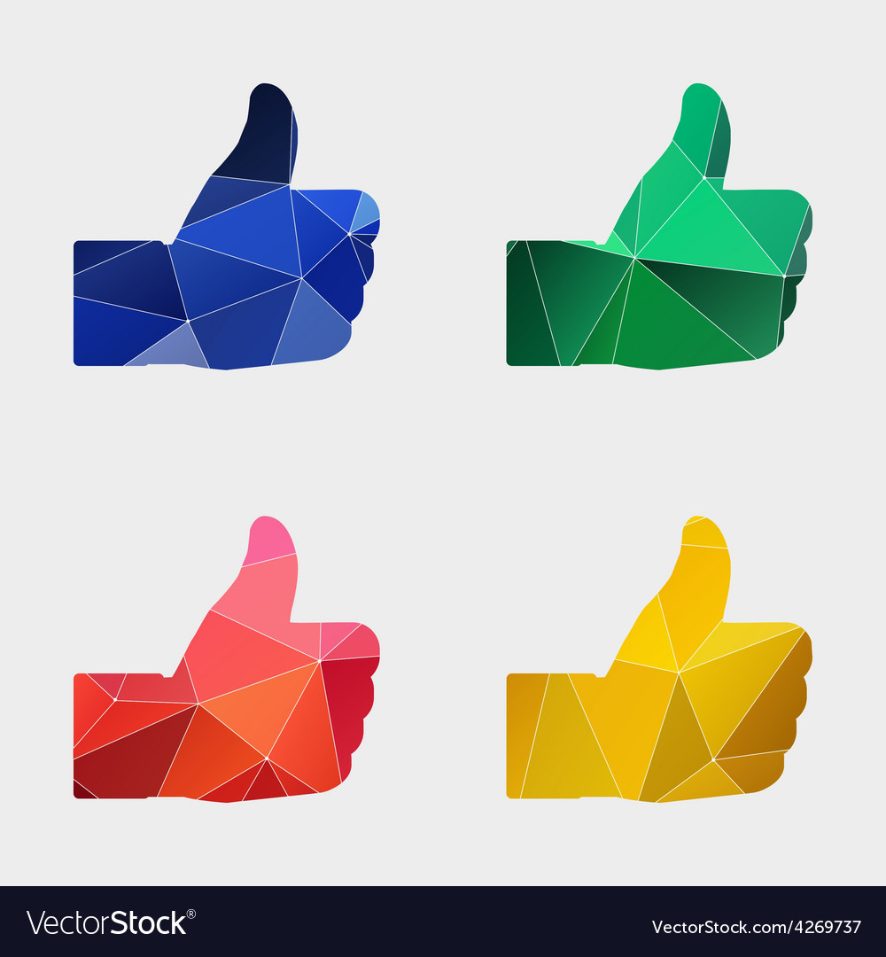Like icon abstract triangle vector | Price: 1 Credit (USD $1)