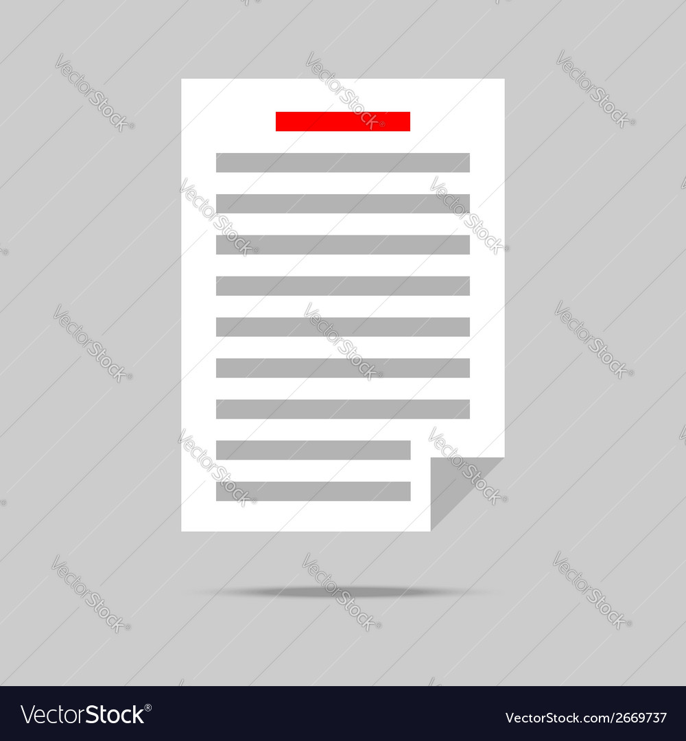 List with gray text icon vector | Price: 1 Credit (USD $1)