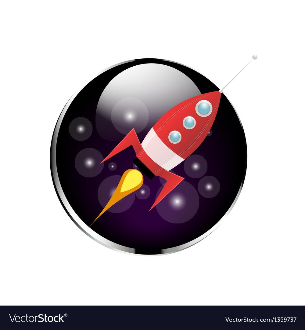 Retro rocket spaceship vector | Price: 1 Credit (USD $1)