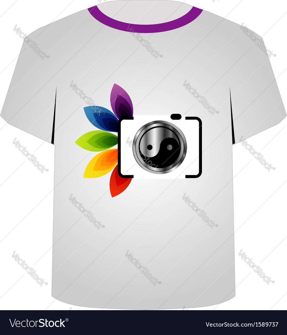 T shirt template- digital camera vector | Price: 1 Credit (USD $1)