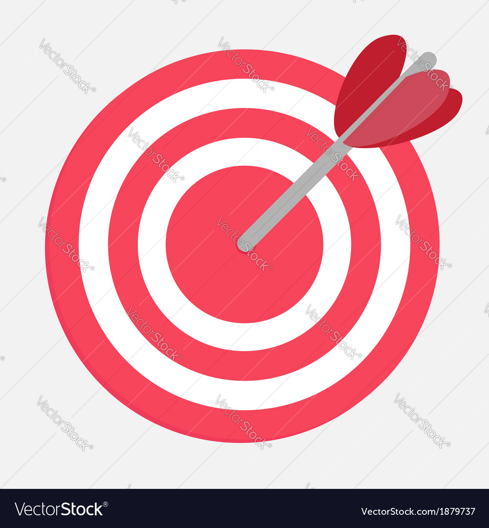 Target with heart arrow vector | Price: 1 Credit (USD $1)