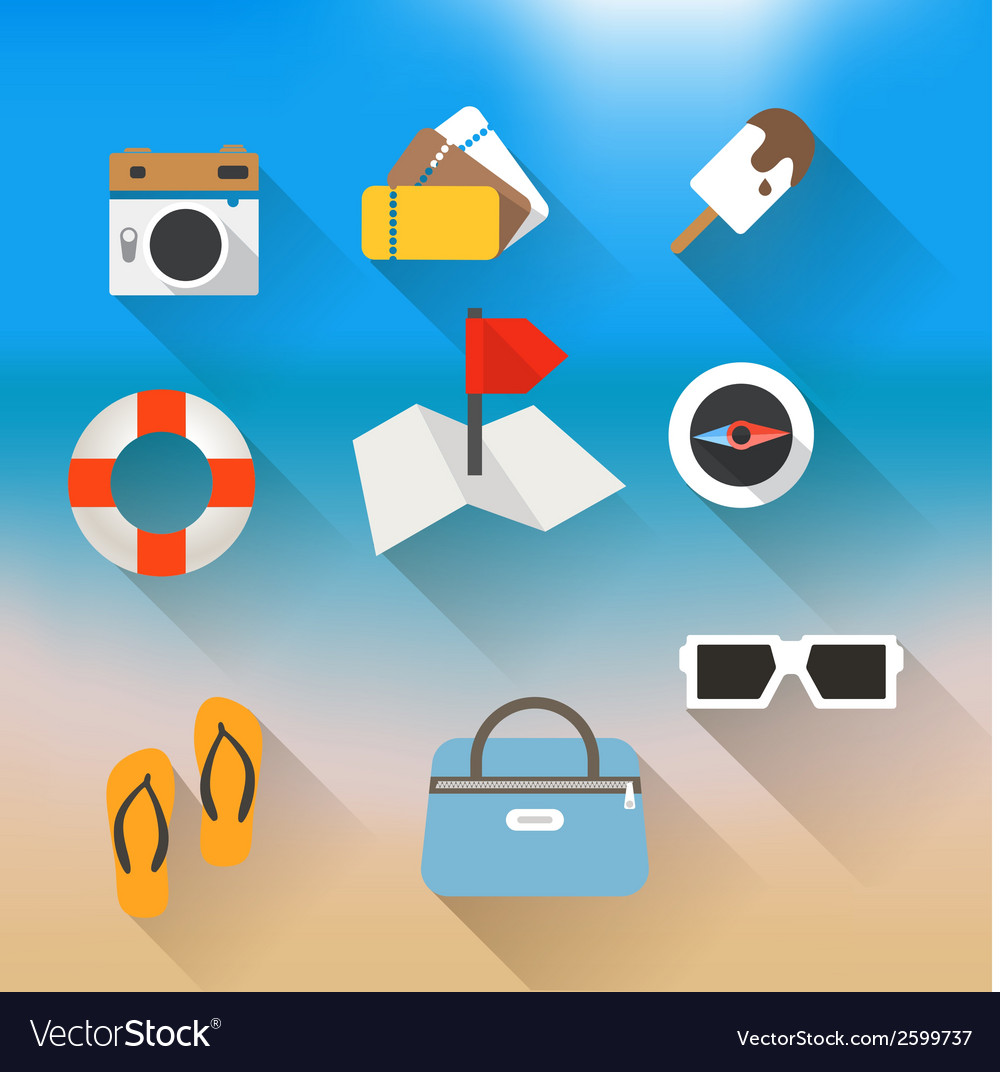 Vacation travelling concept flat design vector | Price: 1 Credit (USD $1)