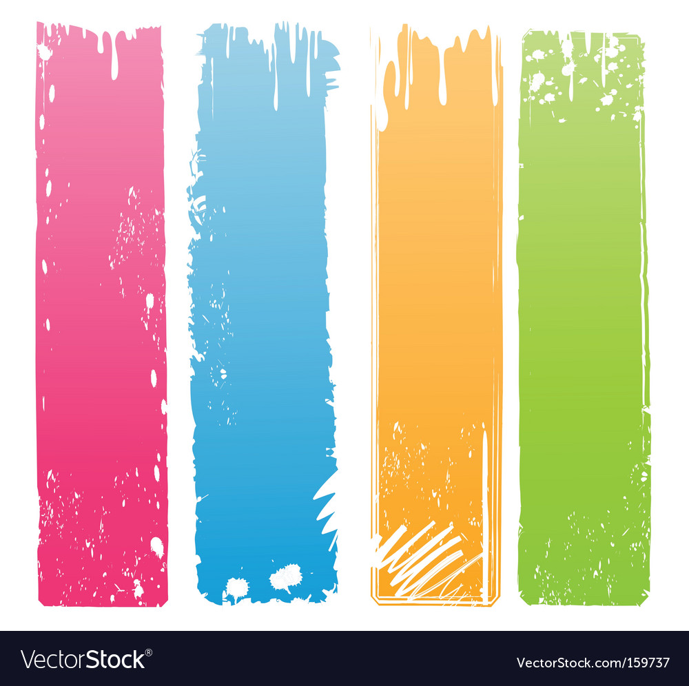 Vertical grunge banners vector | Price: 1 Credit (USD $1)