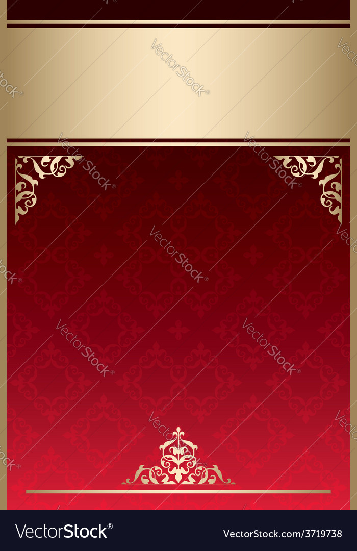 Background with red gradient and golden decor vector | Price: 1 Credit (USD $1)