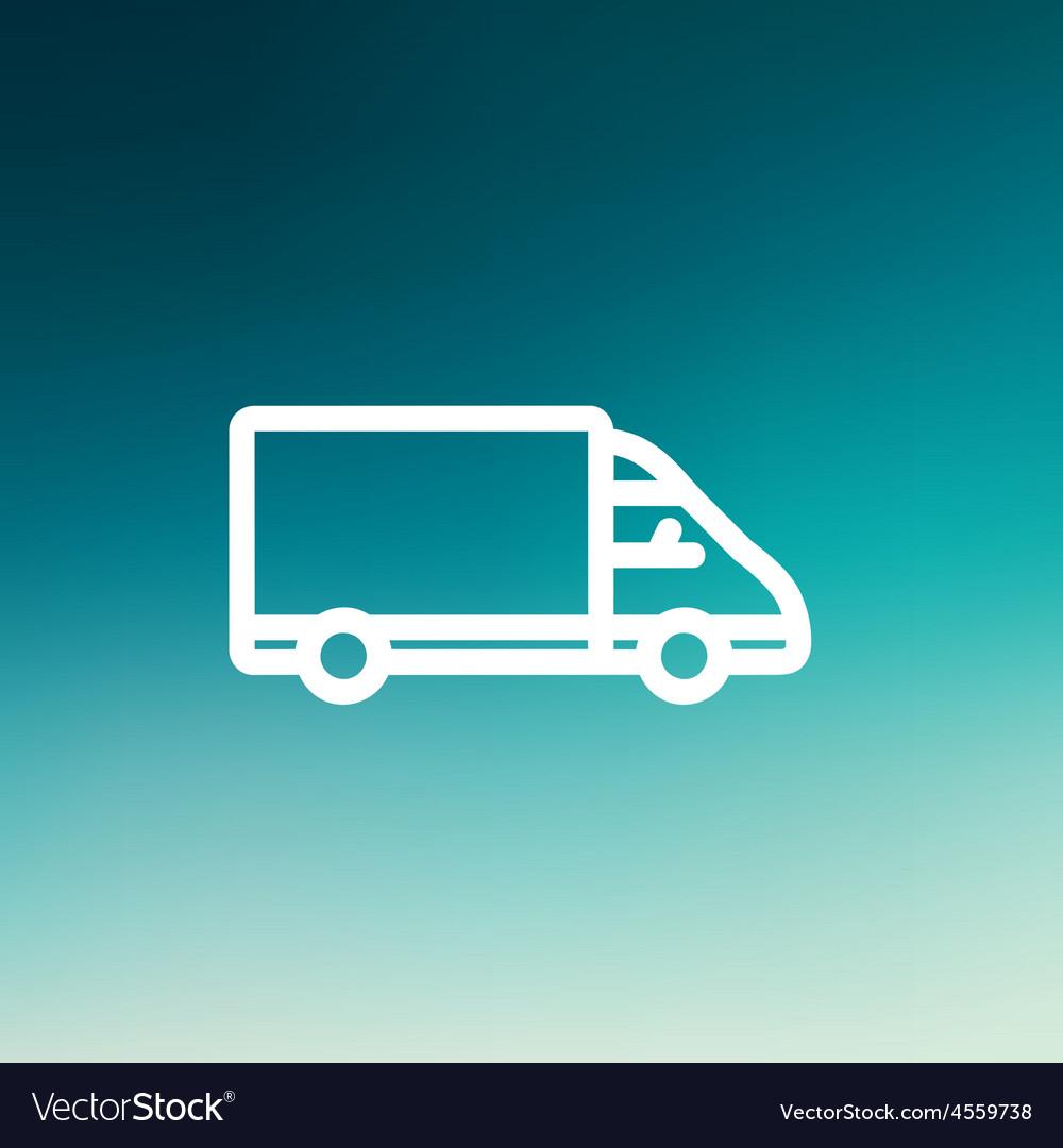 Delivery van thin line icon vector | Price: 1 Credit (USD $1)