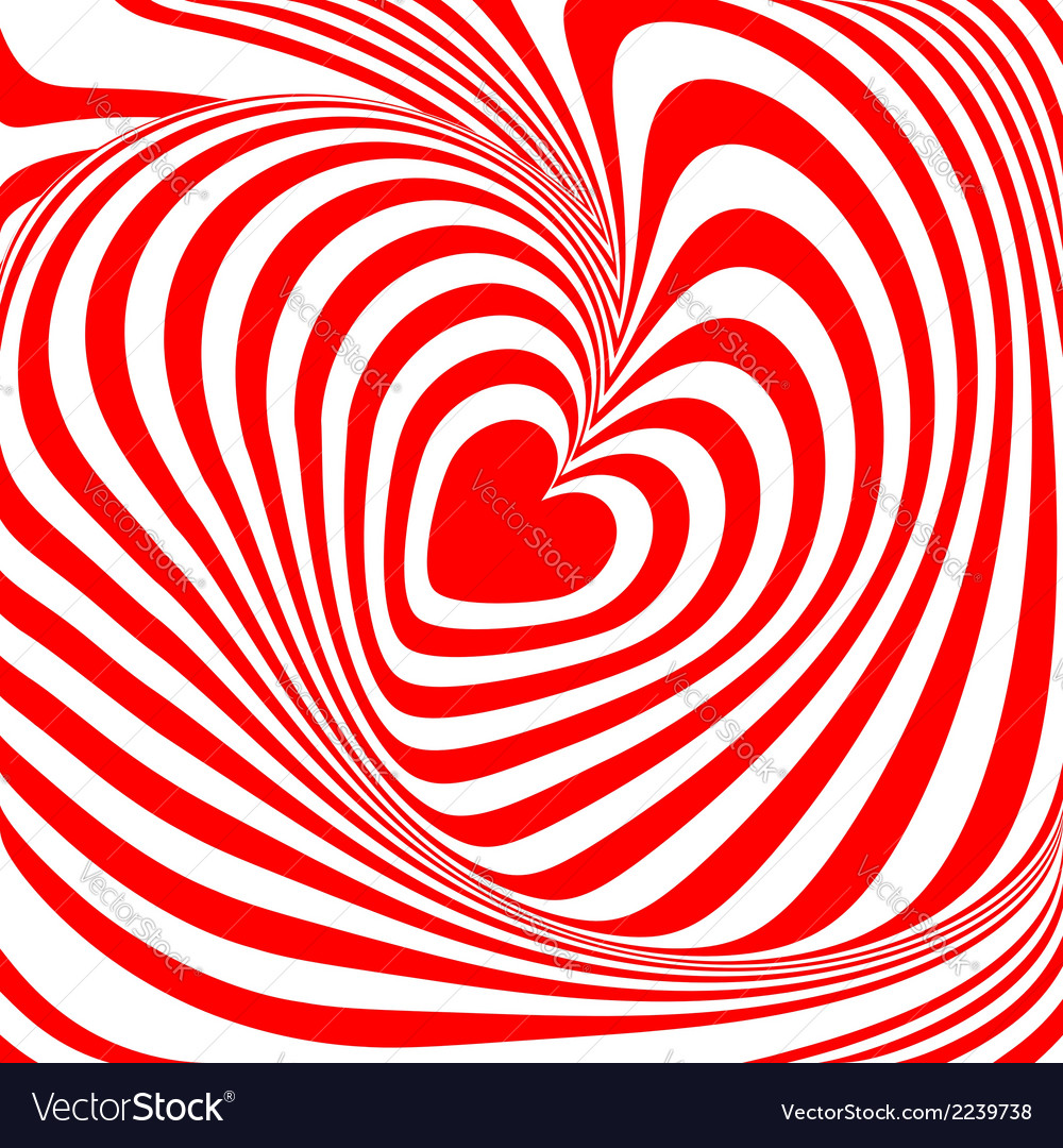 Design heart whirl background vector | Price: 1 Credit (USD $1)