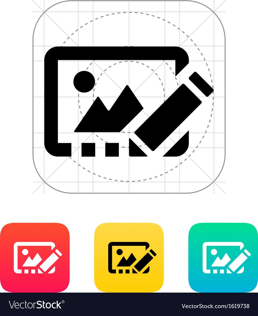 Edit photo icon vector | Price: 1 Credit (USD $1)