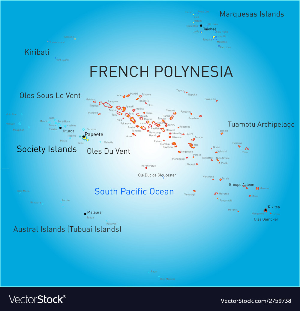 French polynesia vector | Price: 1 Credit (USD $1)
