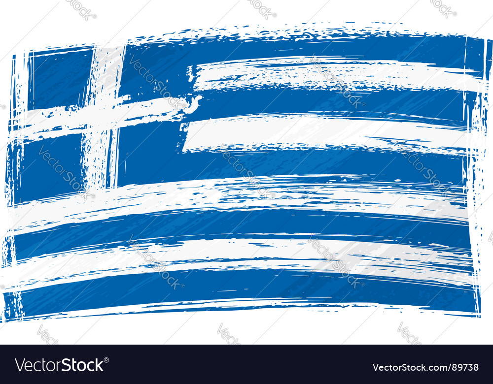Grunge greece flag vector | Price: 1 Credit (USD $1)