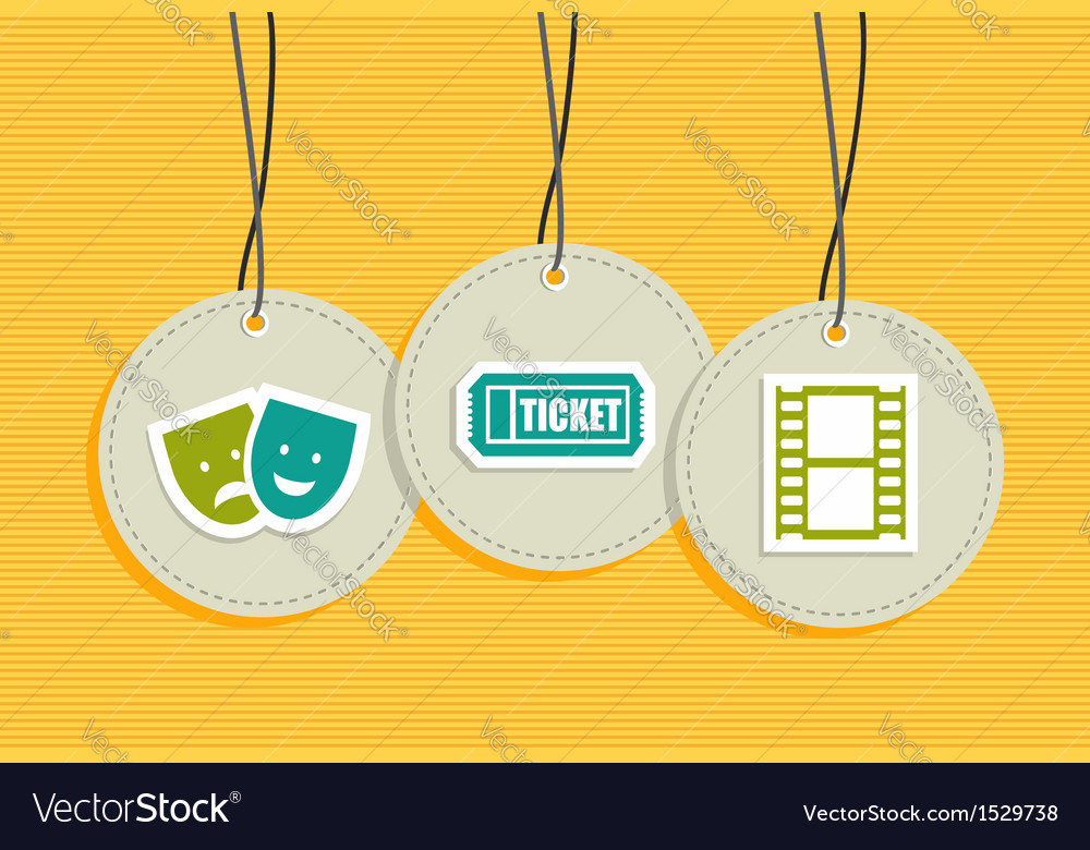 Hanging entertainment badges vector | Price: 1 Credit (USD $1)