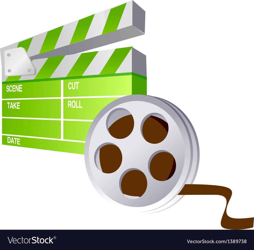 Icon film vector