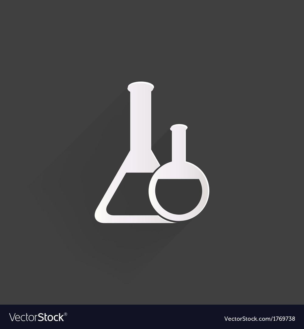 Medical flack chemical eequipment web icon vector | Price: 1 Credit (USD $1)