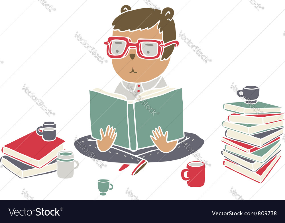 Read books vector | Price: 3 Credit (USD $3)