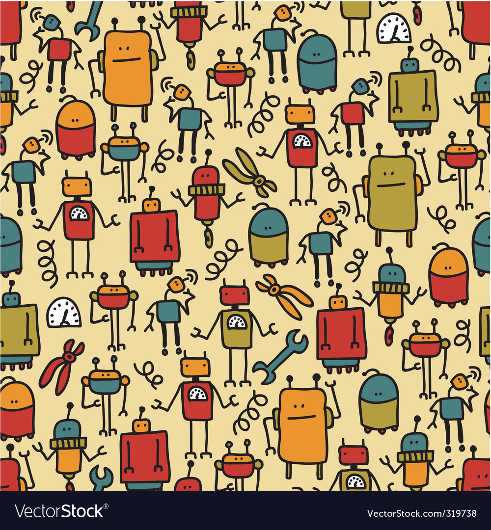 Robot pattern vector | Price: 1 Credit (USD $1)
