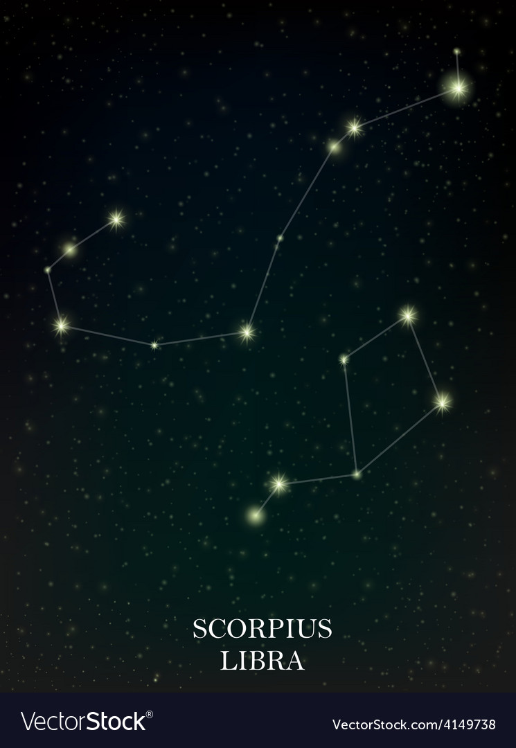 Scorpius and libra constellation vector | Price: 1 Credit (USD $1)