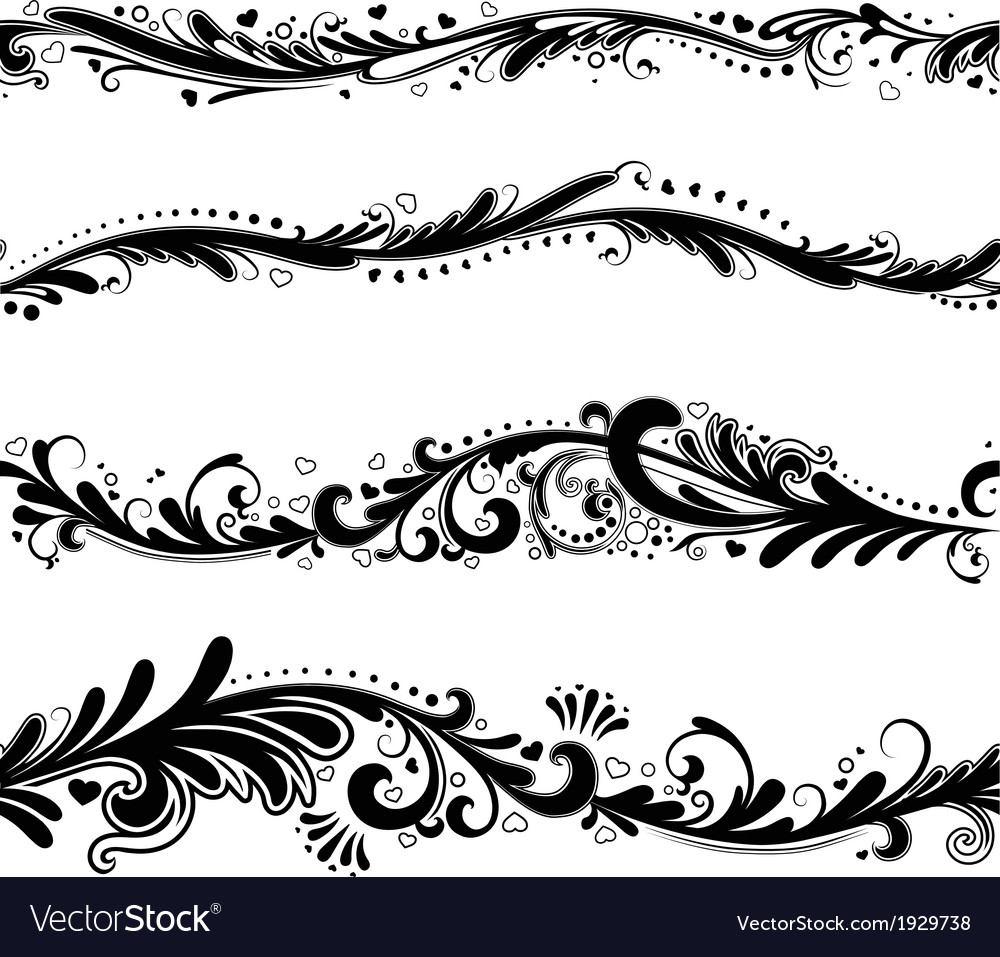 Seamless horizontal patterns vector | Price: 1 Credit (USD $1)