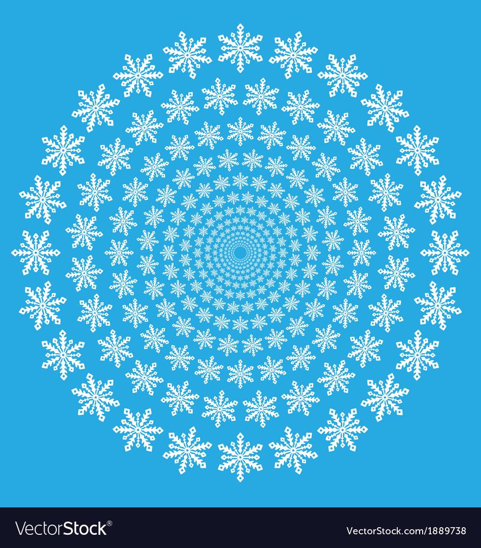 Snowflake spiral wallpaper vector