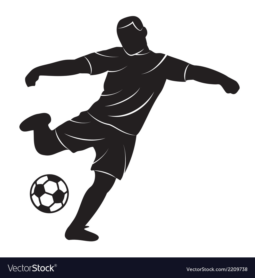 Soccer player on white background vector | Price: 1 Credit (USD $1)