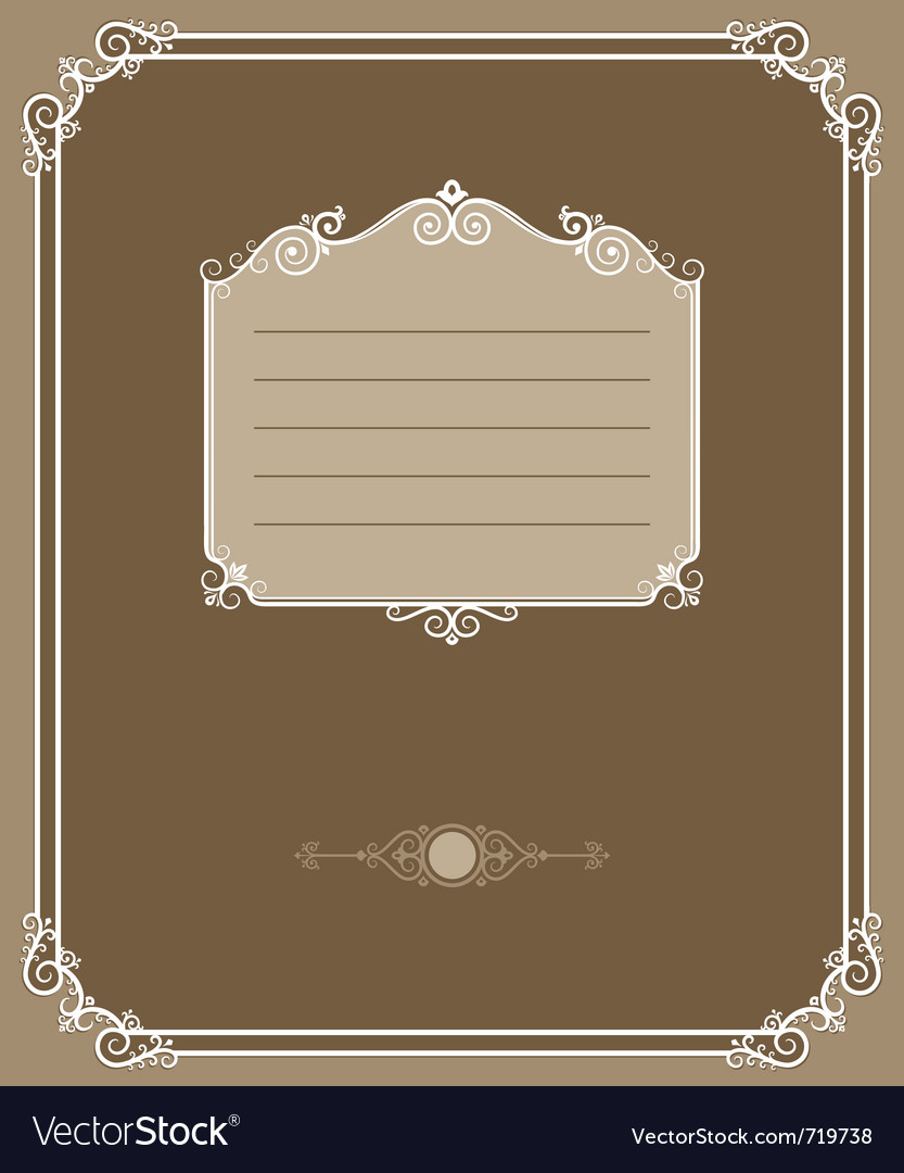 Vintage cover vector | Price: 1 Credit (USD $1)