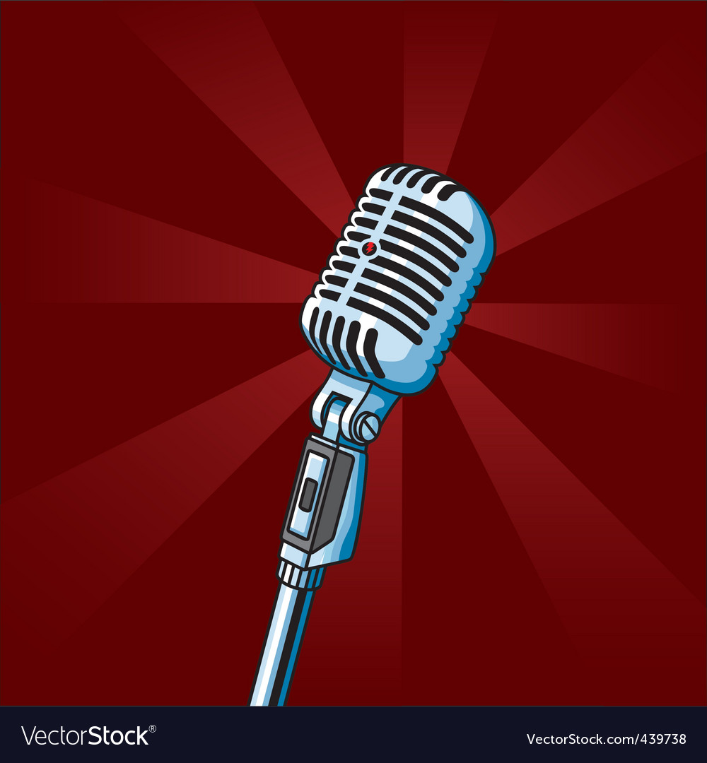 Vintage microphone vector   Price: 1 Credit (USD $1)