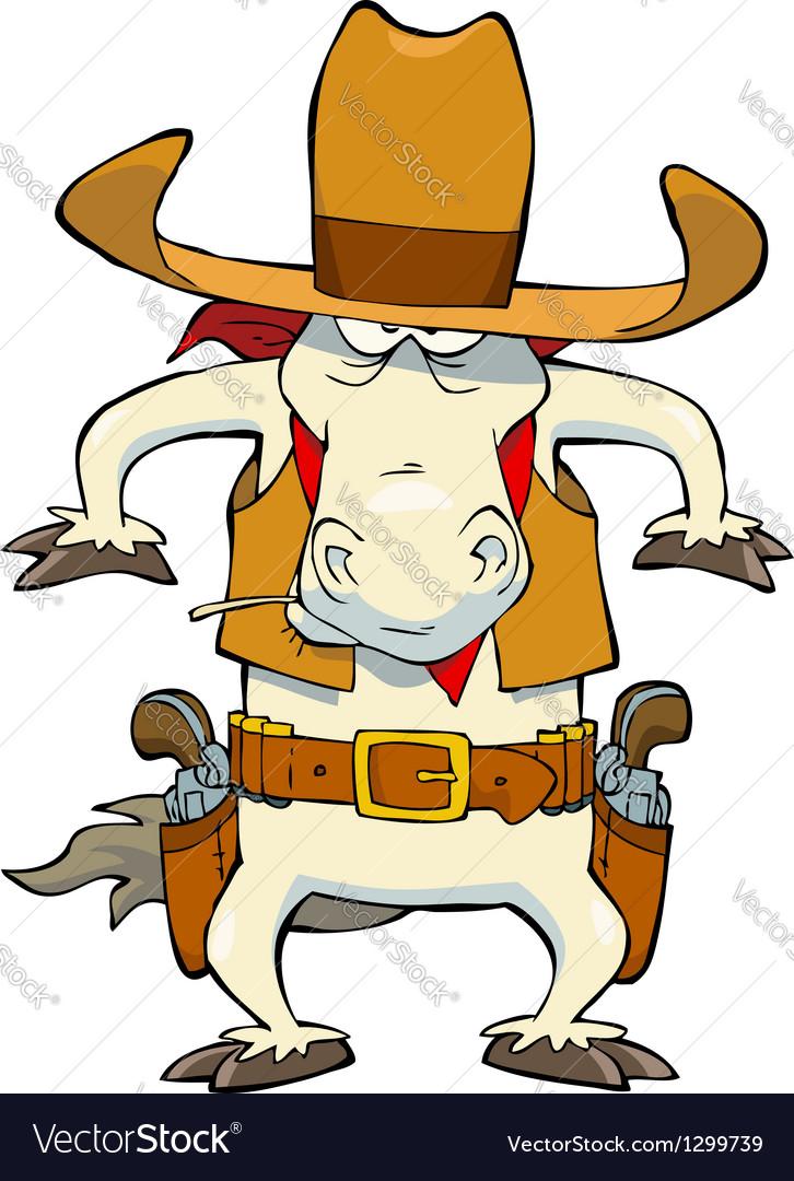 Cowboy horse vector   Price: 3 Credit (USD $3)