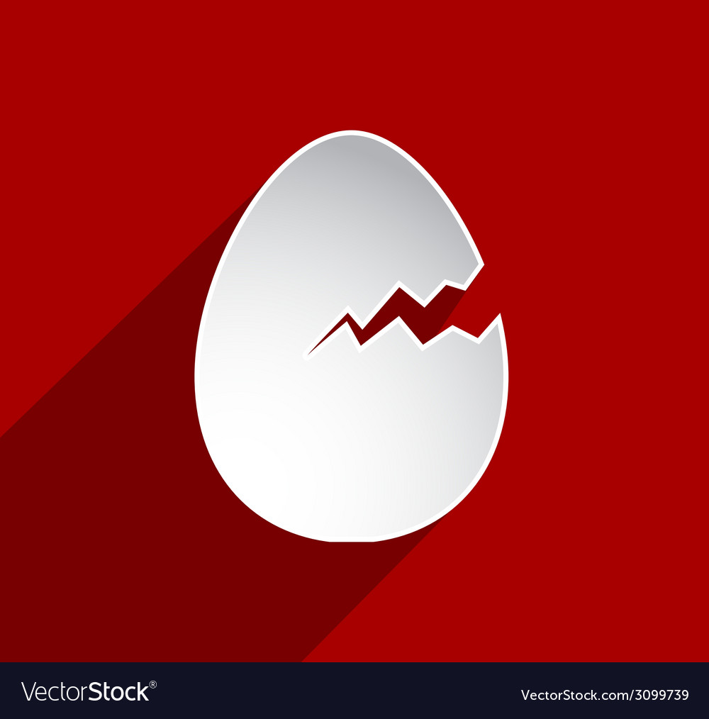 Easter cracked egg vector | Price: 1 Credit (USD $1)