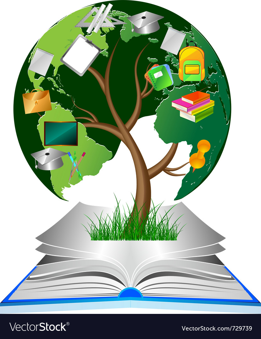 Education tree vector | Price: 3 Credit (USD $3)