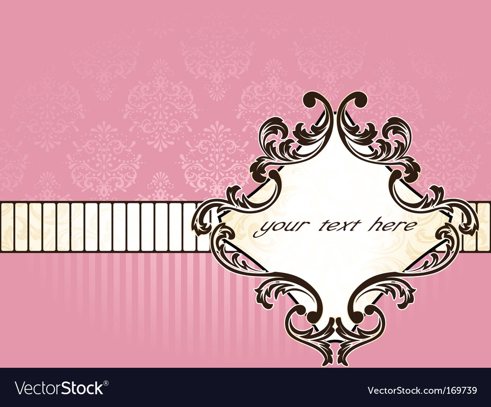Elegant french vintage label horizontal vector | Price: 1 Credit (USD $1)