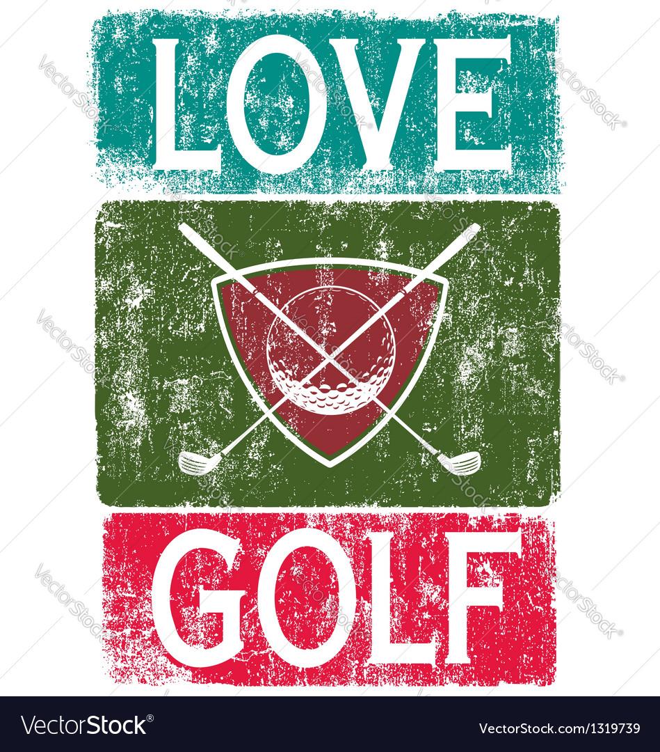 Golf lover vector   Price: 1 Credit (USD $1)