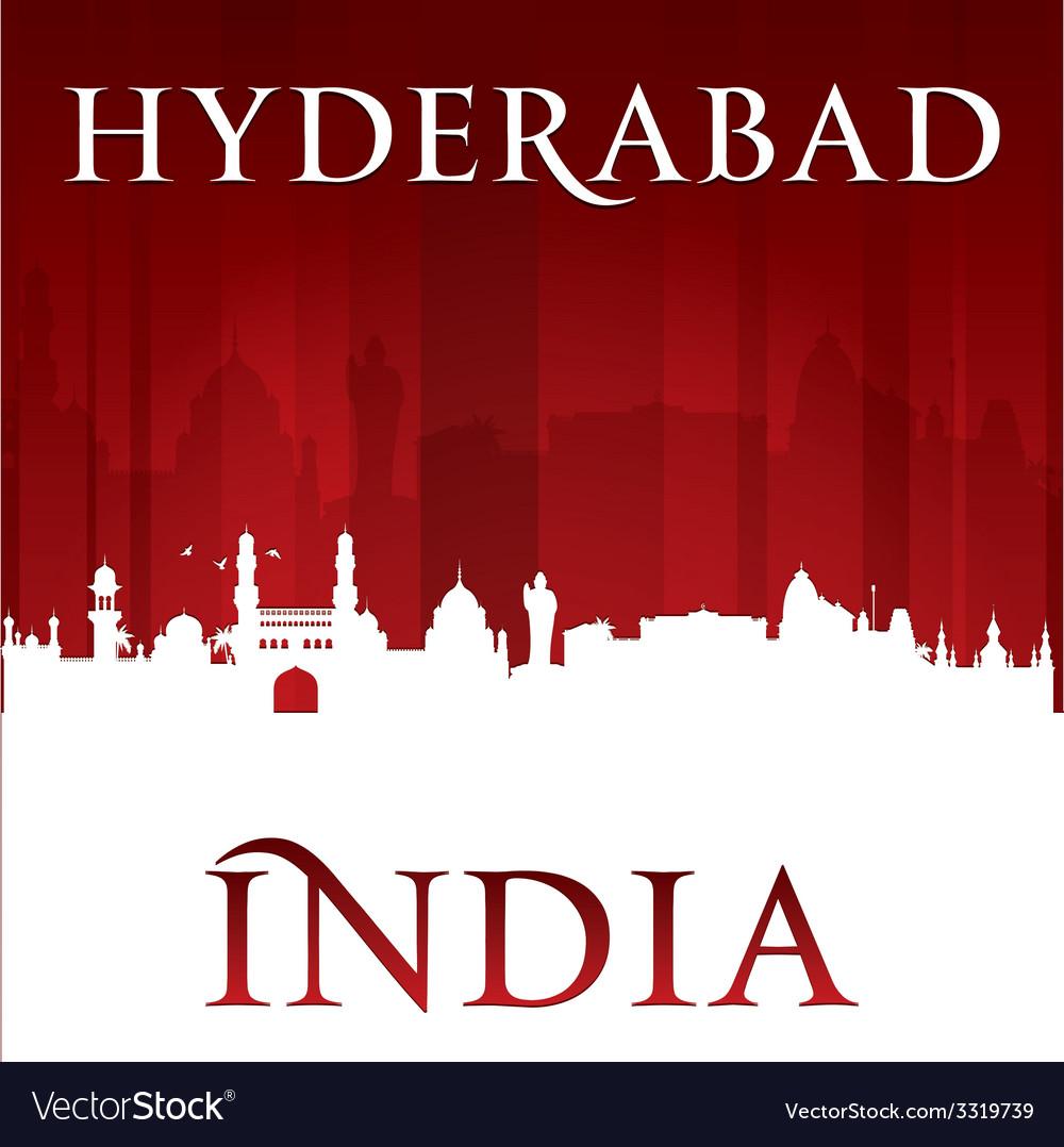 Hyderabad india city skyline silhouette vector | Price: 1 Credit (USD $1)